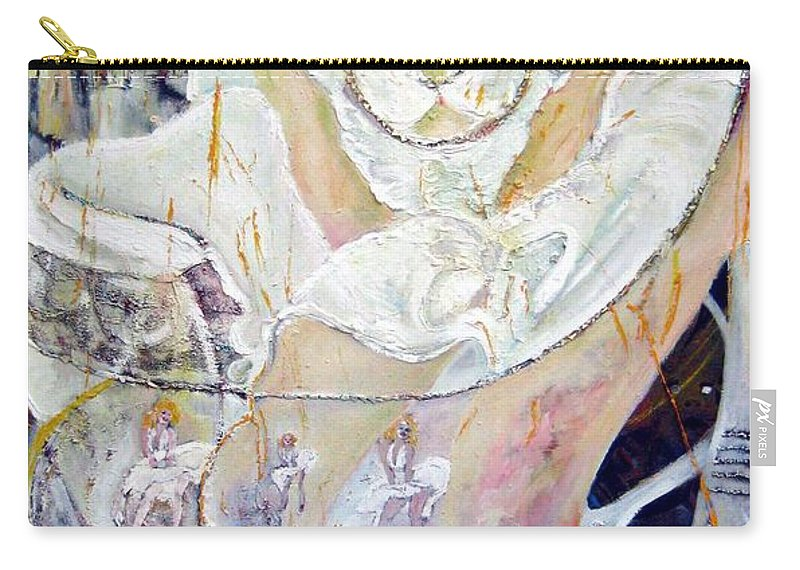 Figurative Carry-all Pouch featuring the painting Blondie  by Peggy Blood