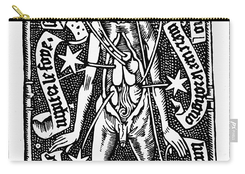 1518 Carry-all Pouch featuring the photograph Bloodletting, 1518 by Granger
