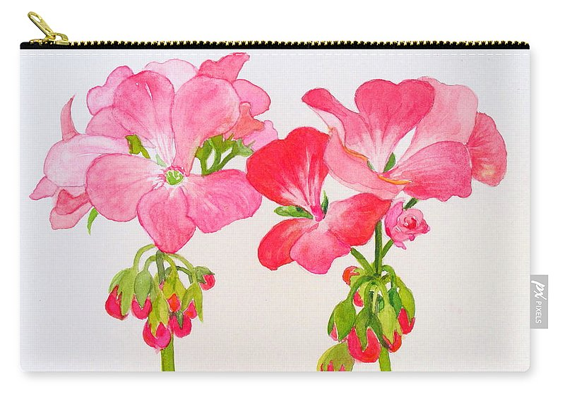 Blooms Carry-all Pouch featuring the painting Blooming 1 by Mary Ellen Mueller Legault