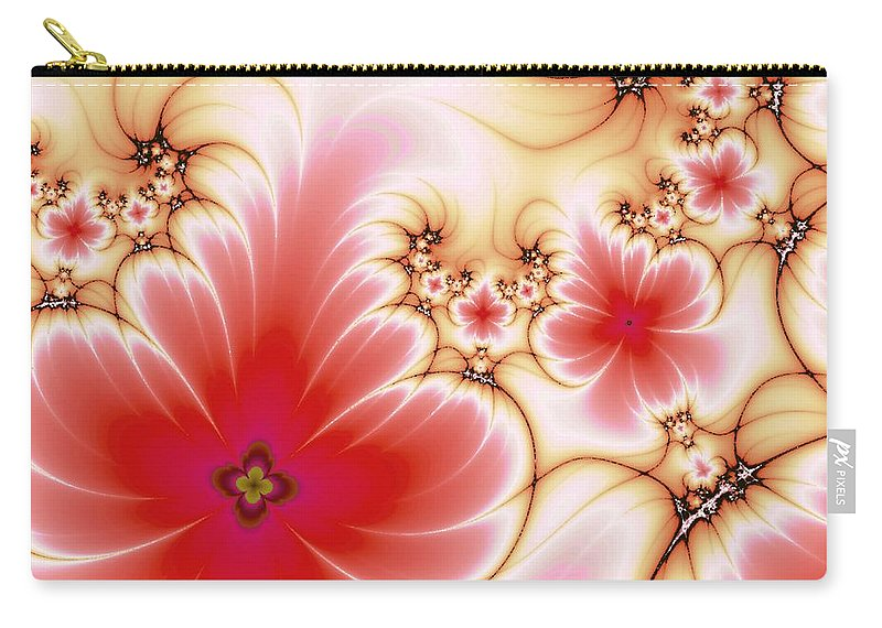 Plant Carry-all Pouch featuring the digital art Blooming by Anastasiya Malakhova
