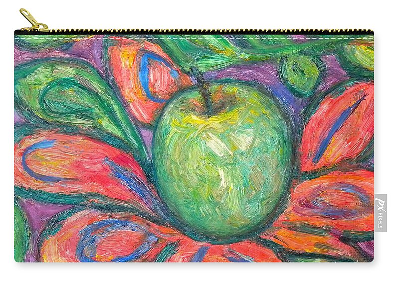 Apple Paintings Carry-all Pouch featuring the painting Blooming Apple by Kendall Kessler