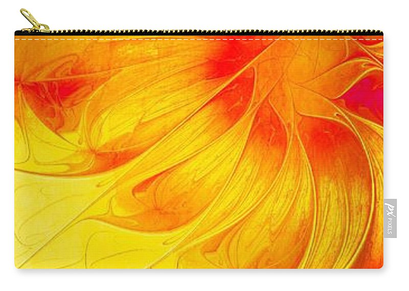 Digital Art Carry-all Pouch featuring the digital art Blooming Spring by Amanda Moore