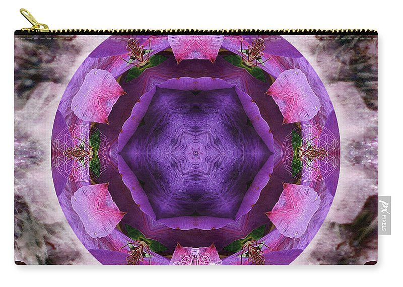 Clematis Carry-all Pouch featuring the mixed media Blossoming by Alicia Kent