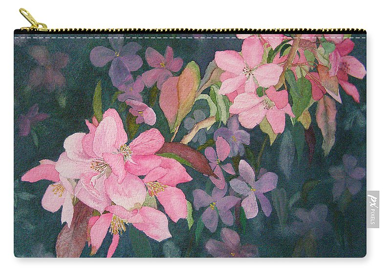 Blossoms Carry-all Pouch featuring the painting Blossoms For Sally by Lynn Quinn