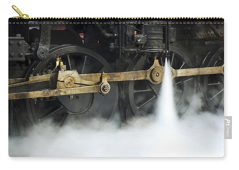 Railroad Carry-all Pouch featuring the photograph Blowing Of Steam by Paul W Faust - Impressions of Light
