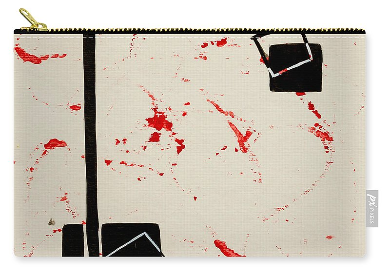 Black Carry-all Pouch featuring the painting Bludgeoned by Stefanie Forck