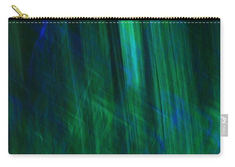 Blue Carry-all Pouch featuring the photograph Blue And Green Abstract by Deborah Benbrook