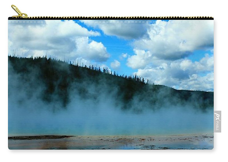 Yellowstone National Park Carry-all Pouch featuring the photograph Blue And More Blue by Catie Canetti