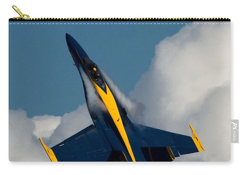 Blue Carry-all Pouch featuring the photograph Blue Angel 6 Condensation Climb by John Daly