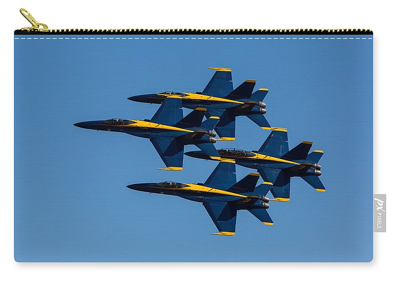 Blue Carry-all Pouch featuring the photograph Blue Angel Diamond by John Daly
