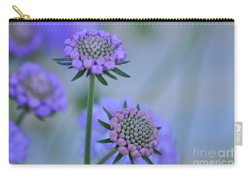 Blue Carry-all Pouch featuring the painting Blue by Angela Maher