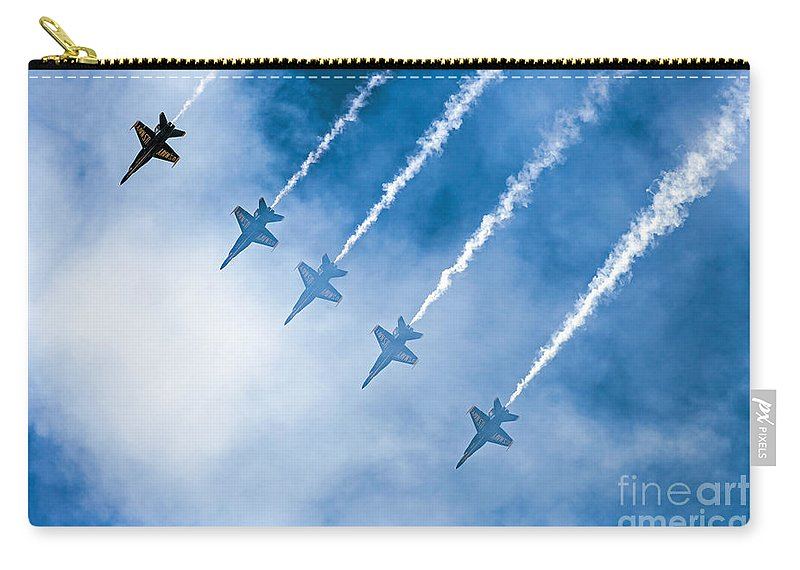 Blue Angels Carry-all Pouch featuring the photograph Blue Angels by Kate Brown