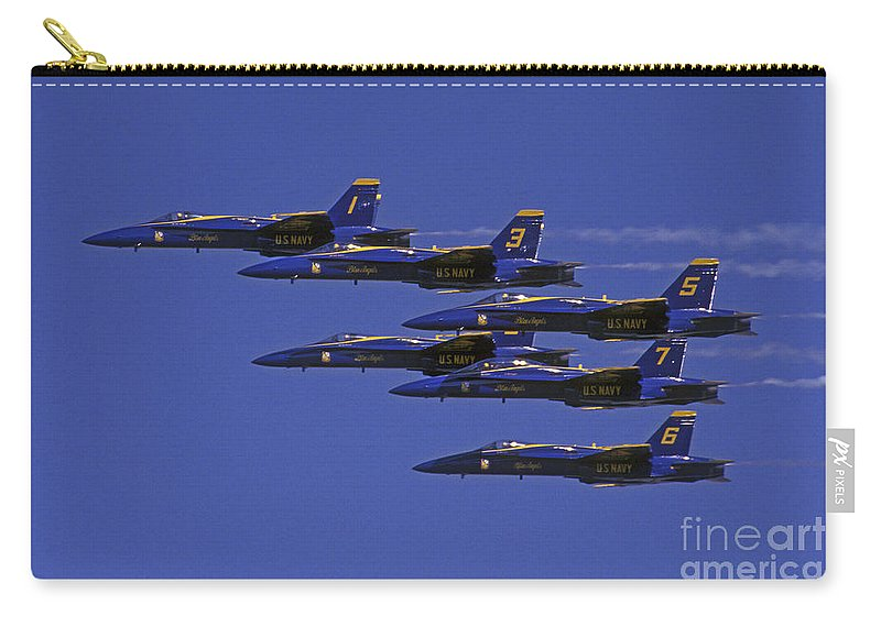 Blue Angles Carry-all Pouch featuring the photograph Blue Angles Thunder By by Paul W Faust - Impressions of Light