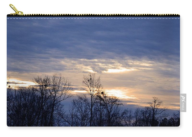 Blue At Dusk Carry-all Pouch featuring the photograph Blue At Dusk by Maria Urso