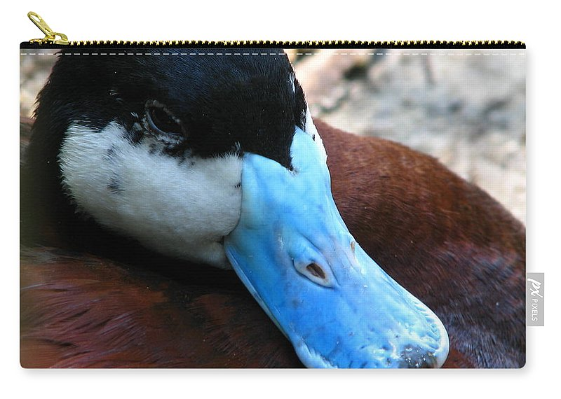 Patzer Carry-all Pouch featuring the photograph Blue Beak by Greg Patzer