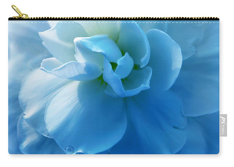 Begonia Carry-all Pouch featuring the photograph Blue Begonia Flower by Jennie Marie Schell
