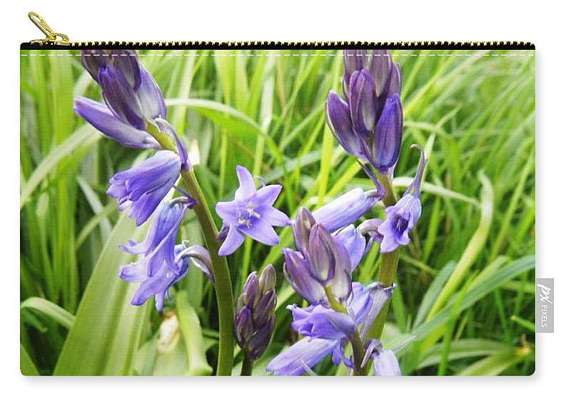 Floral Carry-all Pouch featuring the photograph Blue Bell by Loreta Mickiene