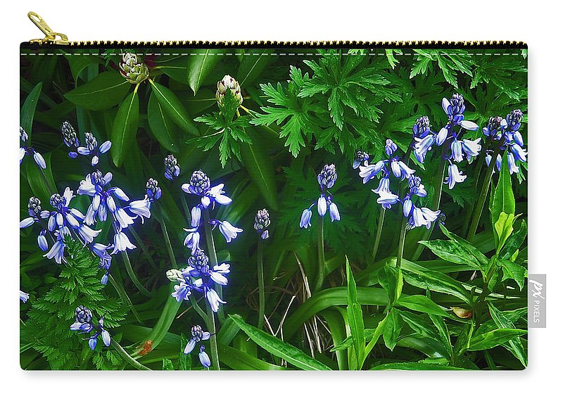 Flower Carry-all Pouch featuring the photograph Blue Bells by Aimee L Maher ALM GALLERY