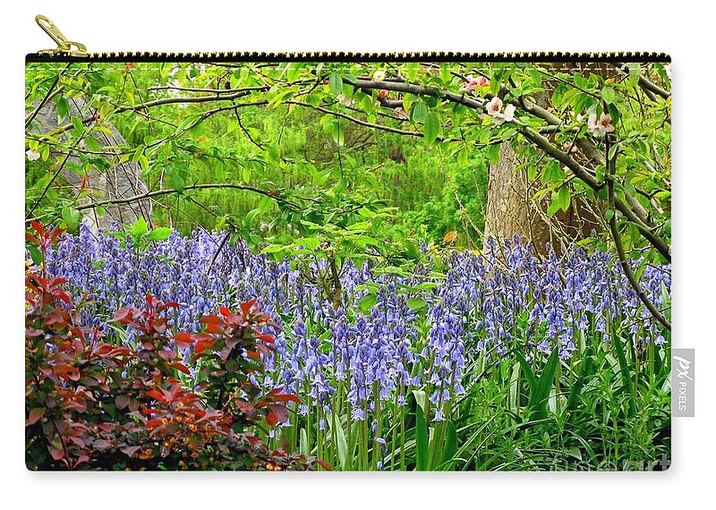 Blossom Carry-all Pouch featuring the photograph Bluebells by Lena Photo Art
