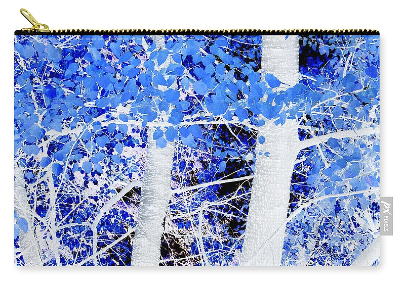 Blue Carry-all Pouch featuring the photograph Blue Birch Trees by Jim And Emily Bush