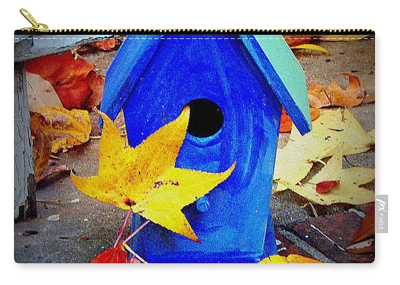 Bird House Carry-all Pouch featuring the photograph Blue Bird House by Rodney Lee Williams