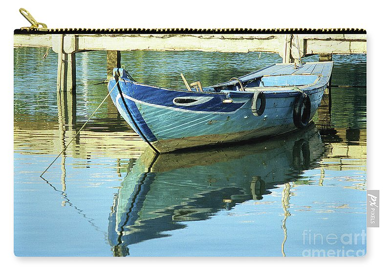 Vietnam Carry-all Pouch featuring the photograph Blue Boat 01 by Rick Piper Photography