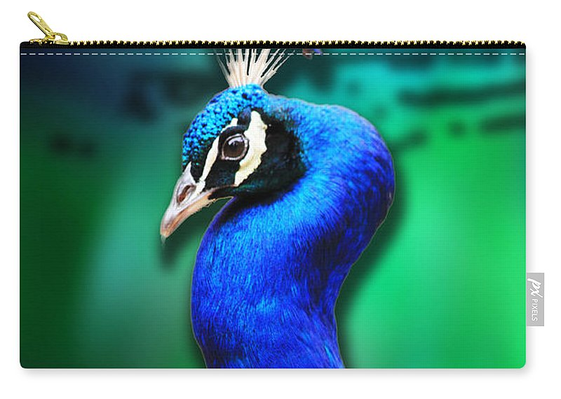 Peacock Carry-all Pouch featuring the digital art Blue Boy 2 by Steve Herndon