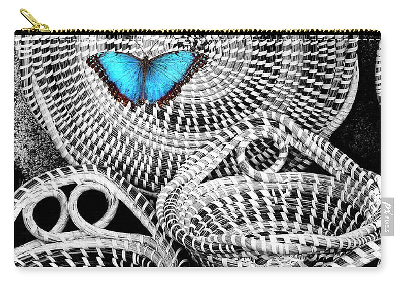 Charleston Carry-all Pouch featuring the photograph Blue Butterfly Charleston by William Dey