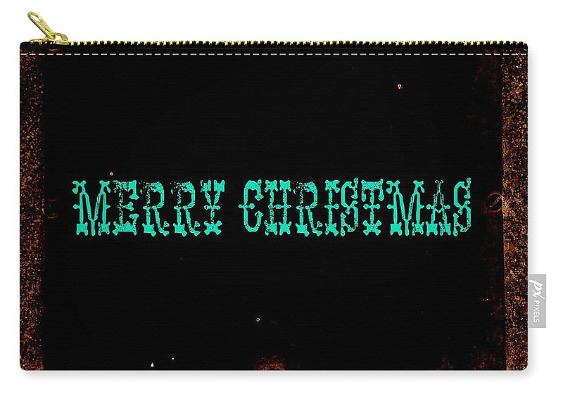 Christmas Carry-all Pouch featuring the photograph Blue Christmas by Chris Berry