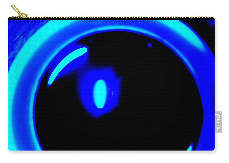 Blue Carry-all Pouch featuring the photograph Blue Circle by Eric Schiabor