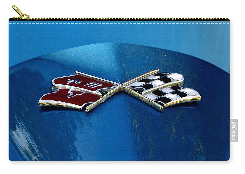 Carry-all Pouch featuring the photograph Blue Corvette by Dean Ferreira