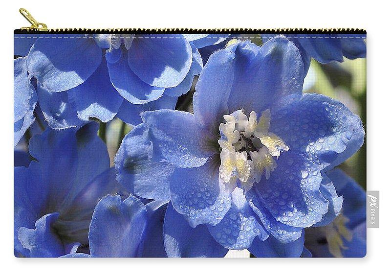 Summer Carry-all Pouch featuring the photograph Blue Delphinium 9655 by Terri Winkler