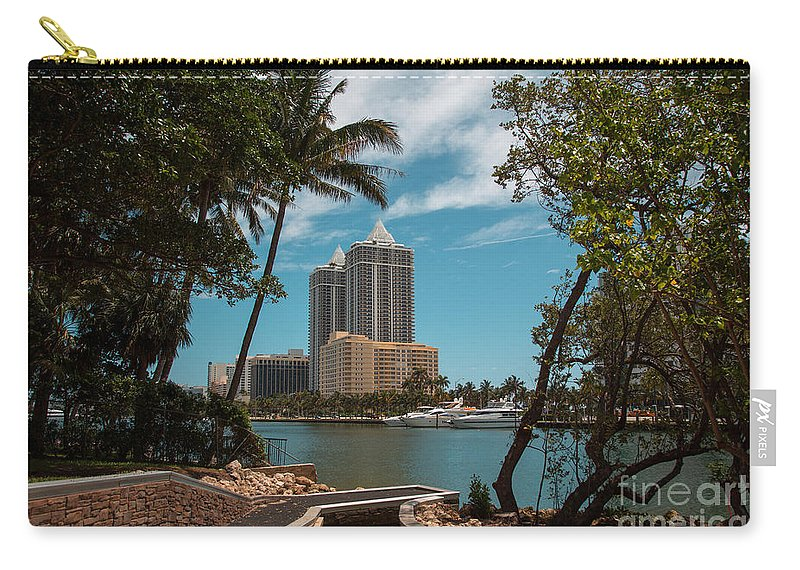 Miami Beach Carry-all Pouch featuring the photograph Blue Diamond Condos Miami Beach by Rene Triay Photography