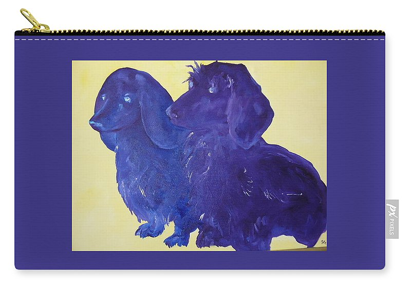 Lyle Carry-all Pouch featuring the painting Blue Dog by Lord Frederick Lyle Morris - Disabled Veteran