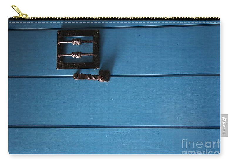Travel Carry-all Pouch featuring the photograph Blue Door by Jason O Watson