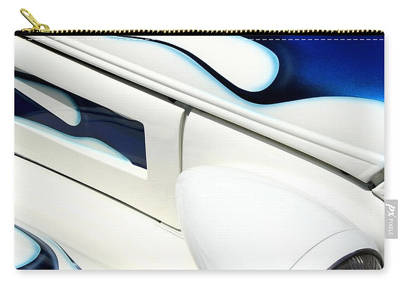 Hot Rod Carry-all Pouch featuring the photograph Blue Fire by Joe Kozlowski