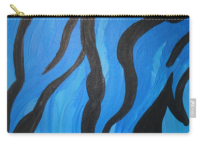 New Age Carry-all Pouch featuring the photograph Blue Flames Of Healing by Mary Mikawoz