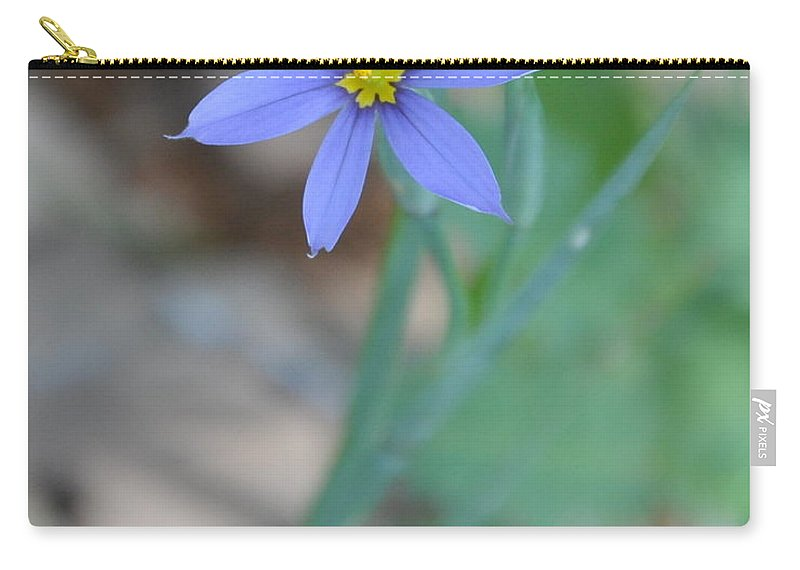 Blue Carry-all Pouch featuring the photograph Blue Flower by Frank Madia
