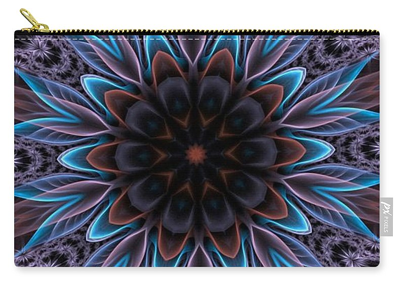 Flower Carry-all Pouch featuring the digital art Blue Flower by Lilia D
