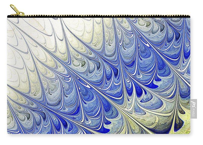 Malakhova Carry-all Pouch featuring the digital art Blue Folium by Anastasiya Malakhova