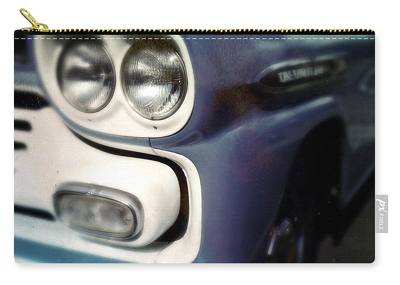 Classic Carry-all Pouch featuring the photograph Blue Ford Pickup by Tim Nyberg