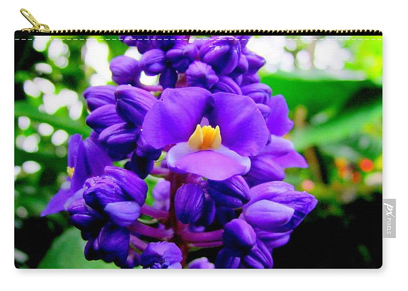 Flowers Carry-all Pouch featuring the photograph Blue Ginger by Mary Deal