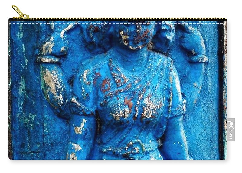 Goddess Carry-all Pouch featuring the photograph Blue Goddess by Kim Bemis
