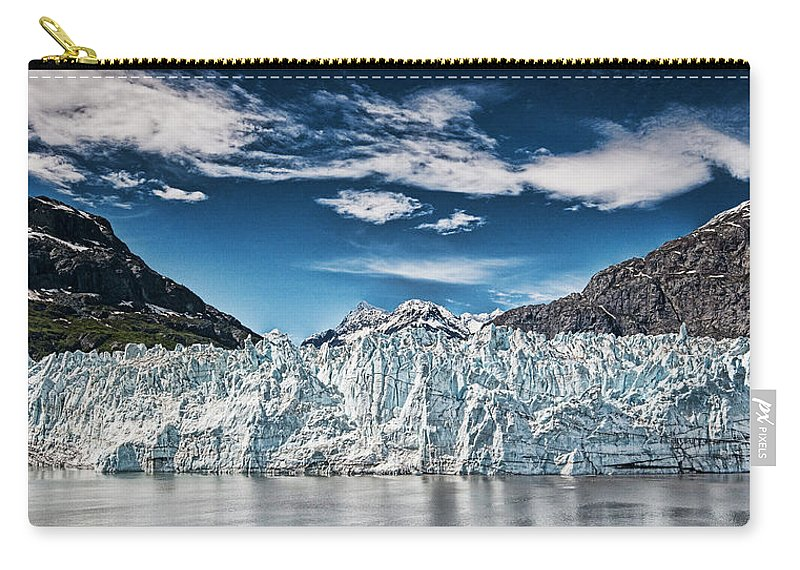 Carry-all Pouch featuring the photograph Blue Ice by Bill Howard