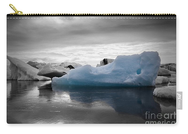 Iceland Carry-all Pouch featuring the photograph Blue Ice Iceland by Gunnar Orn Arnason