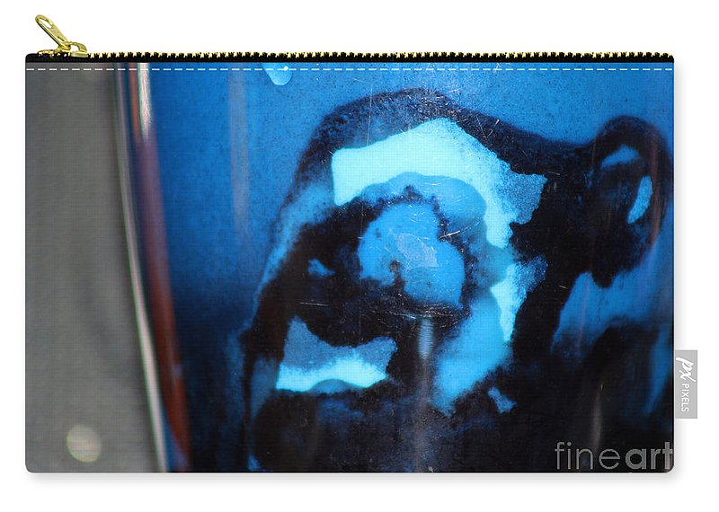 Abstract Carry-all Pouch featuring the photograph Blue Instant by Karen Adams