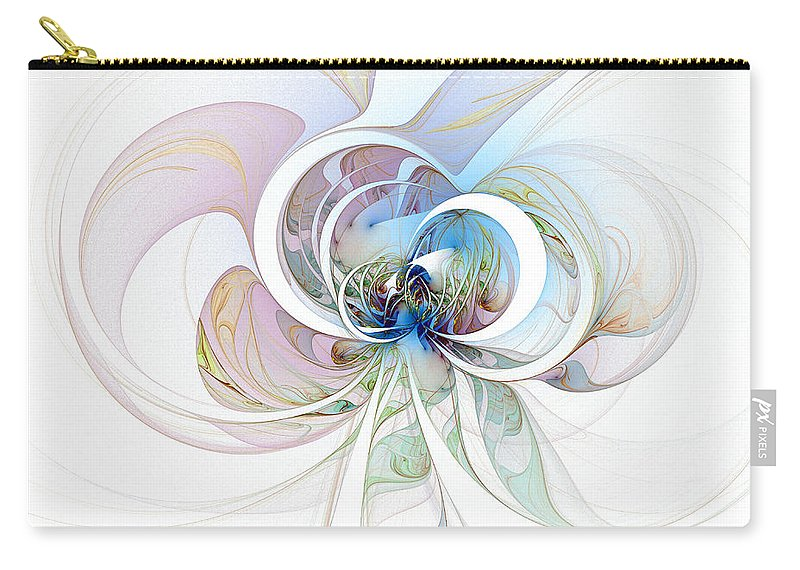 Digital Art Carry-all Pouch featuring the digital art Blue Is The Colour Of My Love by Amanda Moore