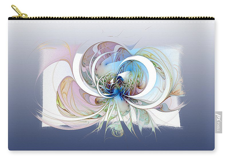 Digital Art Carry-all Pouch featuring the digital art Blue Is The Colour Of My Love II by Amanda Moore