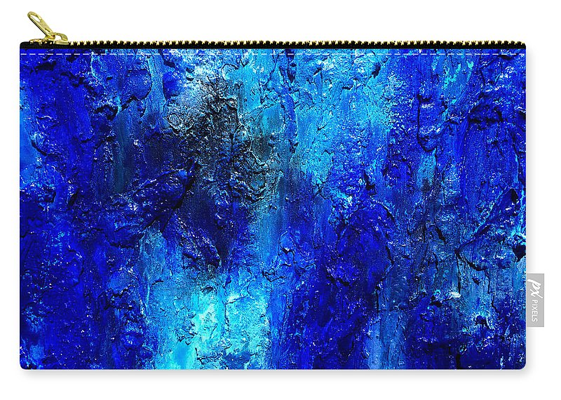 Surreal Prints Carry-all Pouch featuring the painting Blue Lagoon 13 by Henry Parsinia