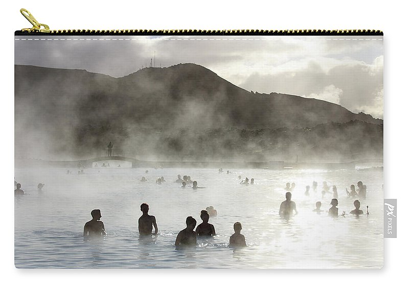 Spa Carry-all Pouch featuring the photograph Blue Lagoon Geothermal Spa by Thomas Janisch